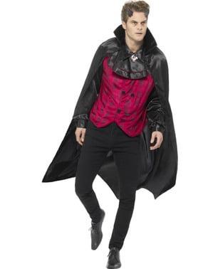 Fato de vampiro elegante gótico para homem