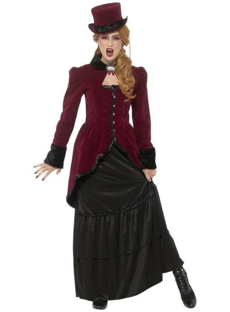 Disfraz de vampiresa victoriana deluxe para mujer
