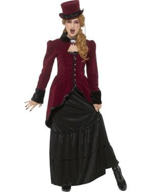 Жіночий розкішний вікторіанський костюм вампіра