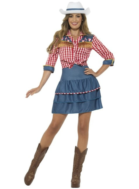 Strój kowbojka z rodeo damski