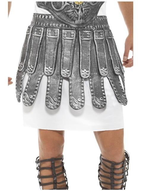Falda de romano plateada para adulto
