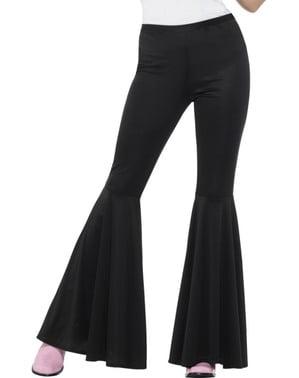Kadın Siyah Flared Pantolon