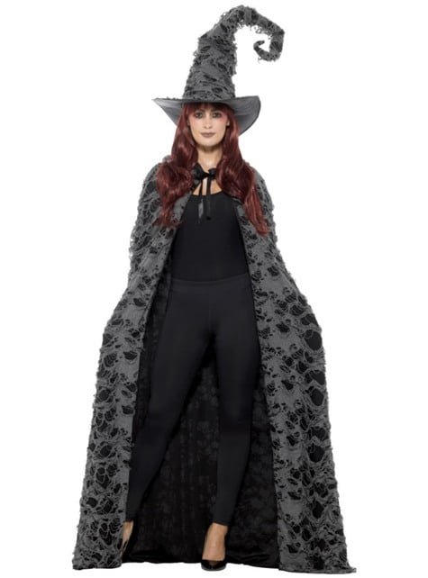 Black and Grey Witch cape for adults