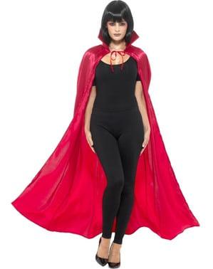 Yetişkinler için saten vampir pelerini
