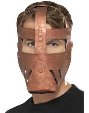 Máscara de guerreiro romano de bronze para adulto