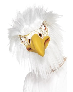 Hvithodehavørn maske for voksne
