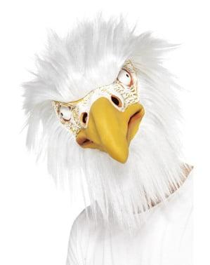 Máscara de águia peluda para adulto