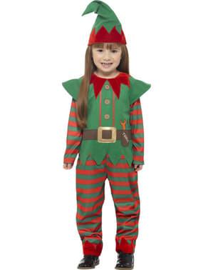 Fato de elfo natalício infantil