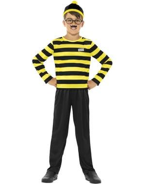 Odlaw van Waar is Wally? kostuum voor kinderen