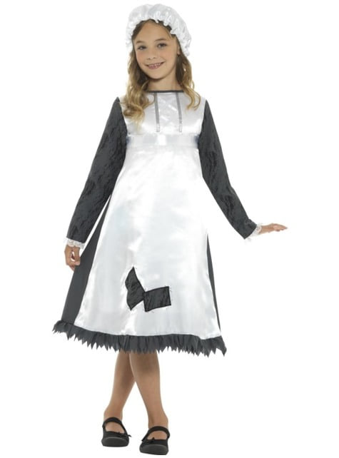 Girls' Victorian maid costume