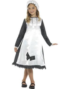 Disfraz de doncella victoriana para niña