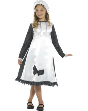 Dívčí Viktoriánský kostým služebné
