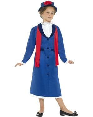 Disfraz de niñera victoriana para niña
