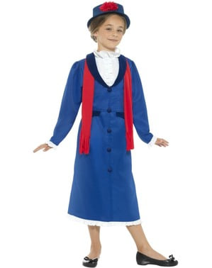 Girls' Victorian nanny costume