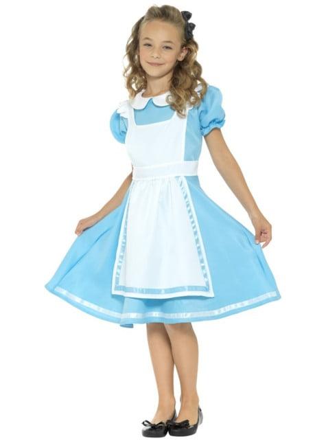 Fato de Alice das maravilhas para menina