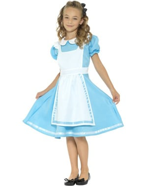 Costum Alice a minunilor pentru fată