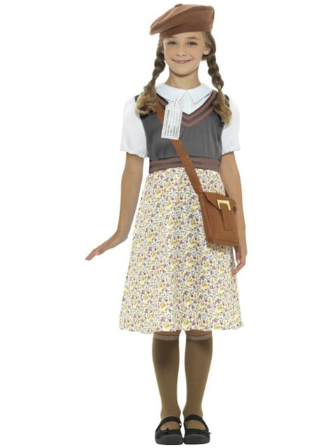 Disfraz de colegiala de los años 40 para niña