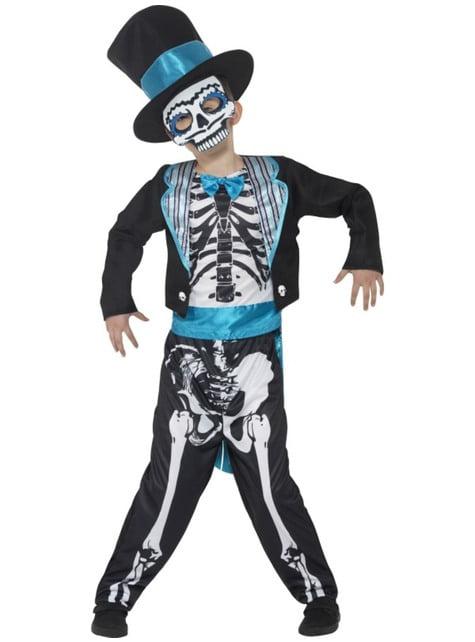 Disfraz de Novio día de los muertos elegante para niño