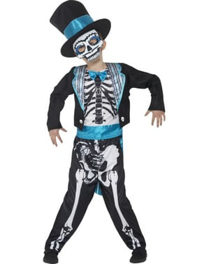 Stylish Day of the Dead Groom Costume for Boys
