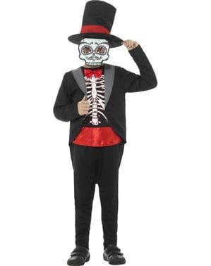 Bräutigam Catrina Tag der Toten Kostüm für Jungen