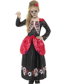 Girlsu0027 Day of the Dead Catrina costume  sc 1 st  Funidelia : dead mariachi costume  - Germanpascual.Com
