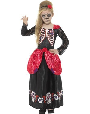 Day of the Dead Catrina kostyme for jenter