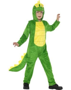 Disfraz de cocodrilo verde deluxe infantil