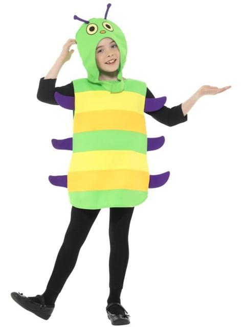 Disfraz de gusano multicolor infantil