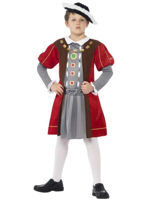 Disfraz de rey Henry VIII Horrible Histories para niño