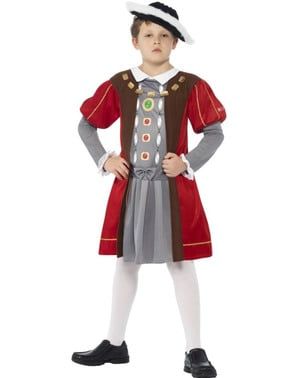 Viktoriansk Henrik VIII Maskeraddräkt för barn - Horrible Histories