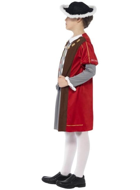 Disfraz de rey Henry VIII Horrible Histories para niño - original