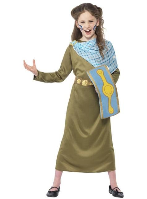 Disfraz de Boudica Horrible Histories para niña