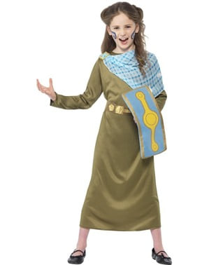 Boudica Warrior Costume for Girls - Horrible Histories
