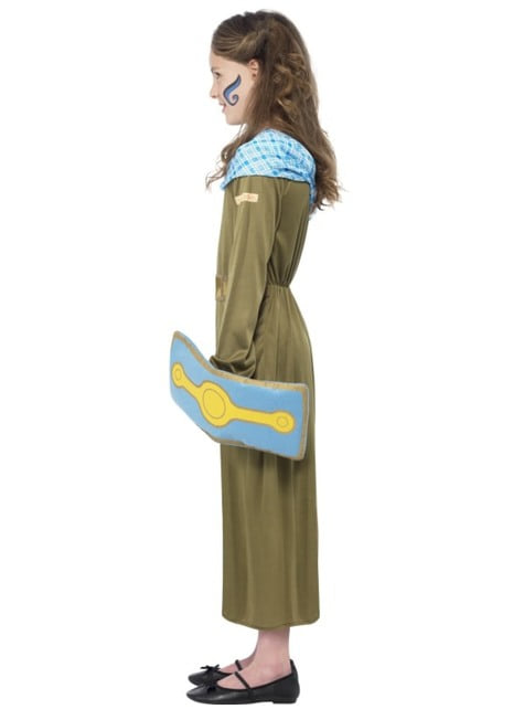 Disfraz de Boudica Horrible Histories para niña - original