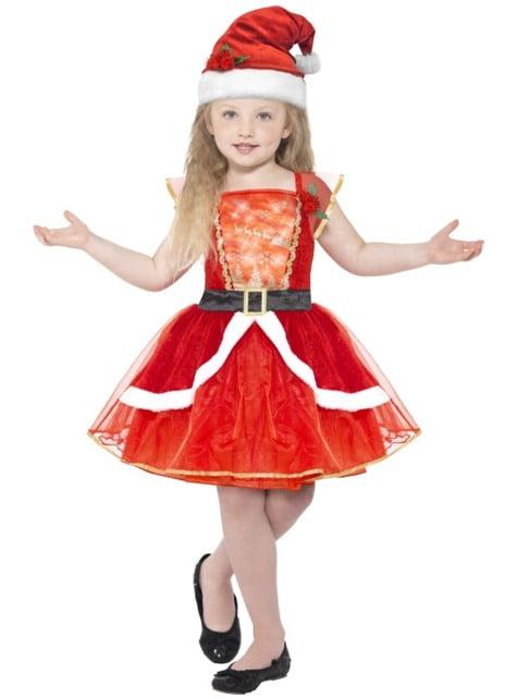 Disfraz de Miss Santa para niña