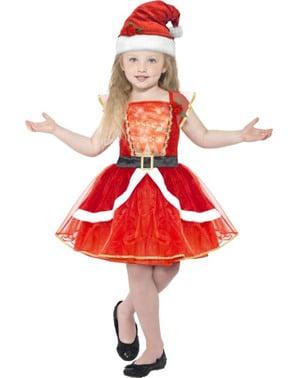 Costum Miss Santa pentru fată