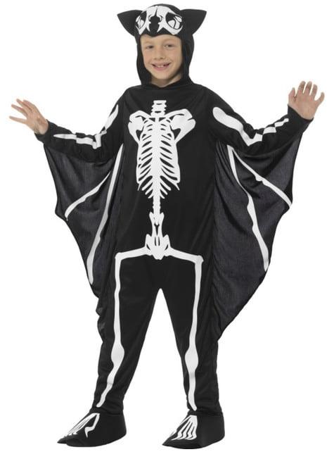 Kostium szkielet nietoperza dla dziecka