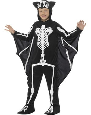 Costume da pipistrello scheletro infantile