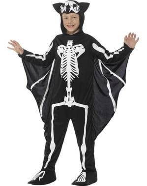Fato de morcego esqueleto infantil