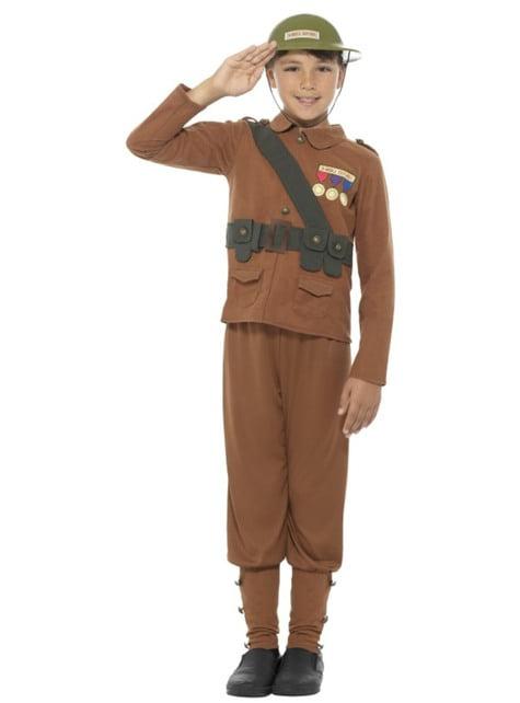 Disfraz de soldado Horrible Histories para niño