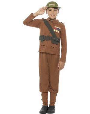 男の子のための兵士コスチューム - 恐ろしい履歴
