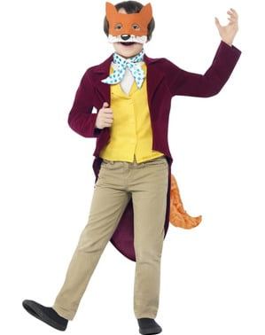 Disfraz de fantástico Mr Fox Roald Dahl para niño