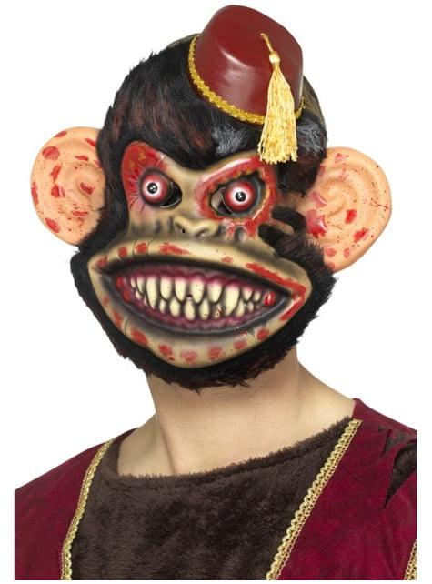 Maschera da scimmia giocattolo zombie per adulto