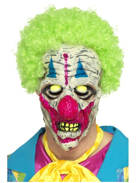 Maska klauna zabójcy ultrafioletowa