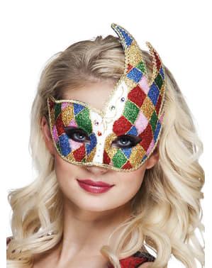 Venesiansk ansiktsmask flerfärgad