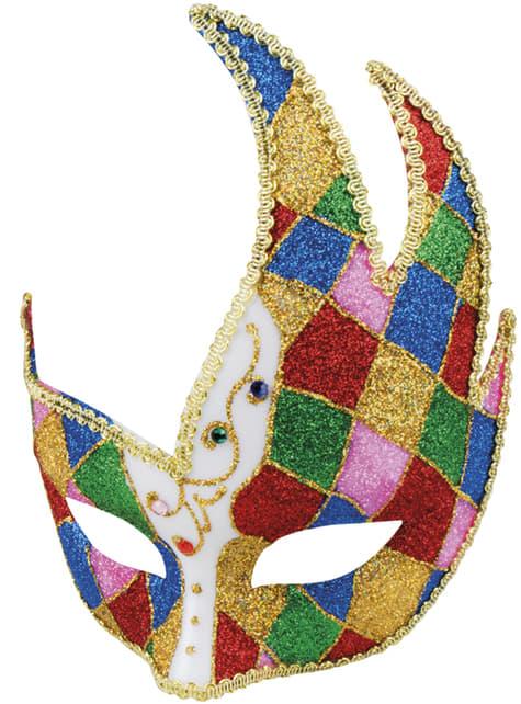 Antifaz veneciano multicolor para adulto - para tu disfraz