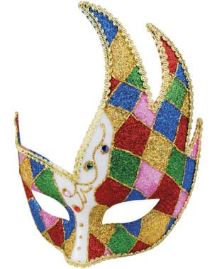 Máscara veneziana multicolorida