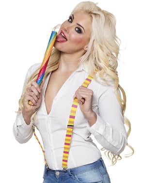 Hängslen flerfärgad candy för vuxen