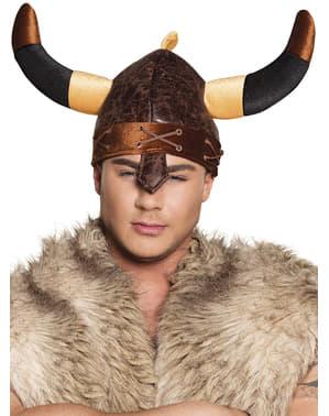 Capacete de viking duro para adulto