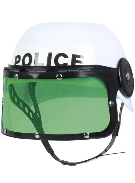 Casco de Policía antidisturbios infantil - para tu disfraz